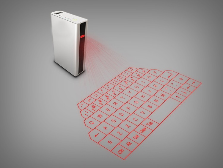 portable bluetooth virtual laser projection keyboard with power bank 5200mAh and bluetooth speaker