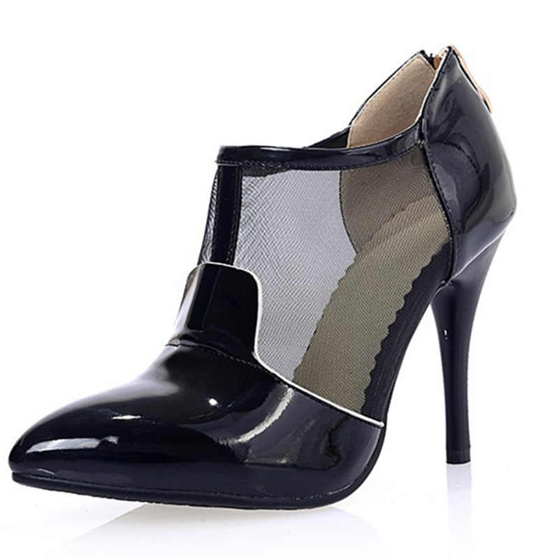 1c8802a551b Get Quotations · Sexy patent leather (PU) Women white black pink shoe high  heels ladies Pumps woman