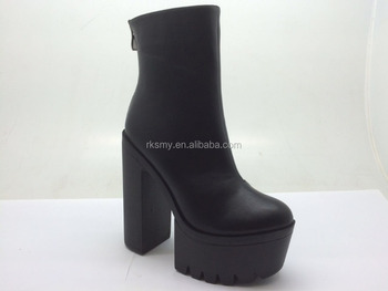 wholesale elegance leather high heel lady boot shoe