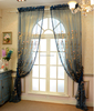 Italian Elegant Loggia Window Sheer Curtain, Refined Embroidery Curtain Sheer