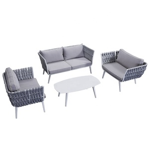 New Design Wholesale Garden Patio Seating Furniture Metal Modern Outdoor Rope Sofa