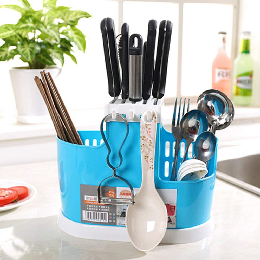 Home Use Kitchen Tool Knife Spoon Chopsticks Fork Multifunction Storage Box Rack Cutlery Holder Plastic For