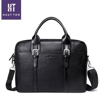 078dca82eb Hautton Hot Selling New Designer Mens Real Top leather laptop bag messenger  bag leather Men Briefcase