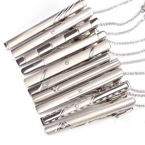 New Simple Metal Silver Tie Clip For Men Wedding Necktie Tie Wholesale фото
