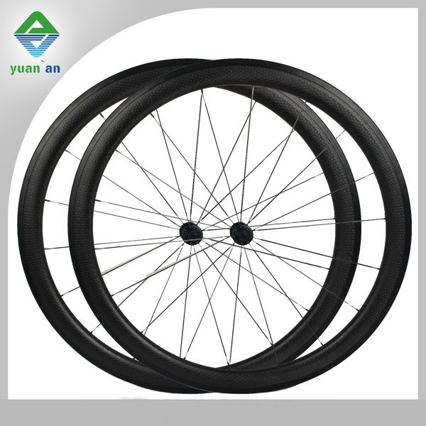 Wheel carbon bicycle cheap ruedas carbono carbon dimpled wheelset 45mm or 58mm size full carbon