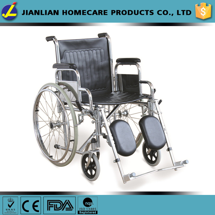 Drive Medical Blue Streak Wheelchair with Flip Back Desk Arms, Elevating Leg Rests