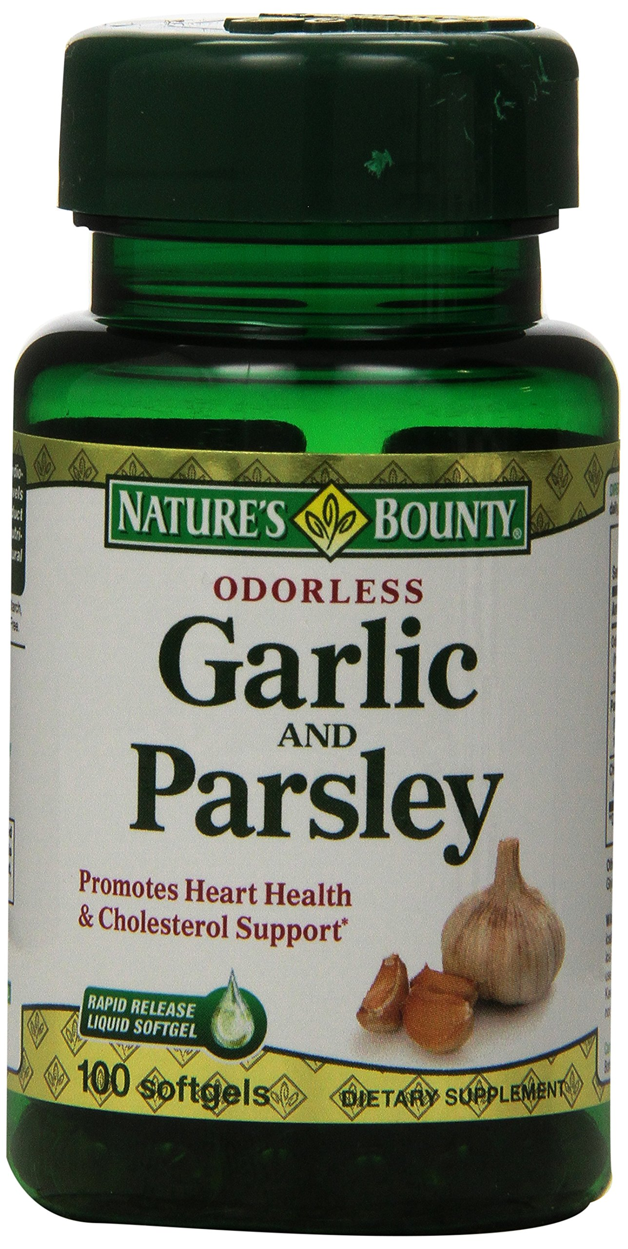 Nature's Bounty Odorless Garlic and Parsley, 100 Softgels