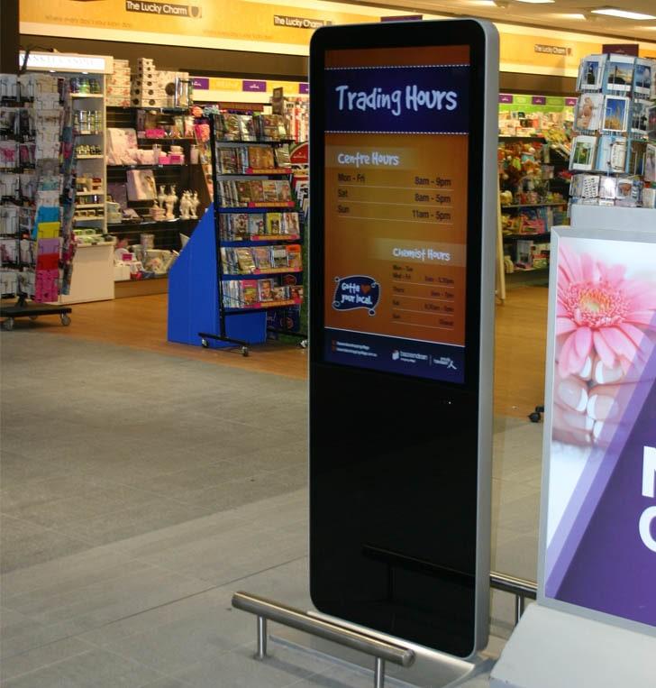 Piso de pie Lcd de señalización Digital Vertical de la pantalla de publicidad
