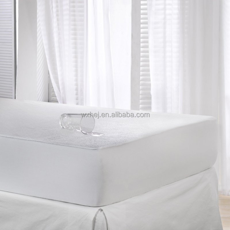 wholesale cheap white terry cloth waterproof vinyl free mattress cover