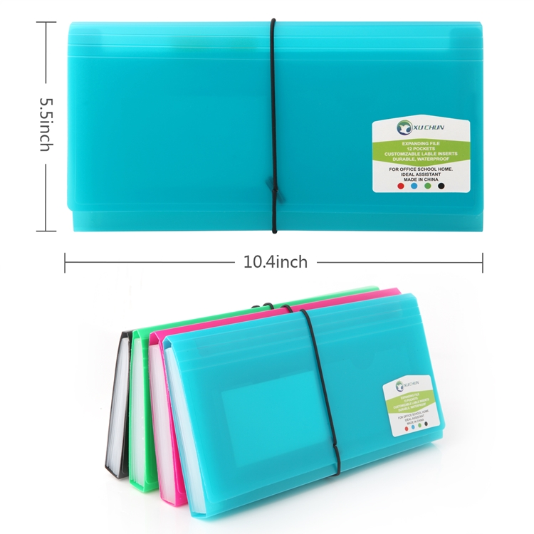 13 pockets expanding file folder