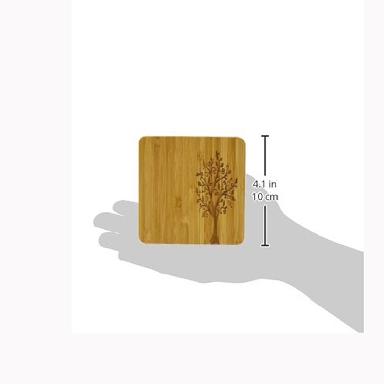 Tùy chỉnh giá rẻ dễ thương trà tre coaster/cốc cà phê mat với biểu tượng kinh doanh