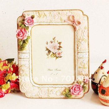 """New Arrival! 5 x 7"""" Pink Roses Decoration Photo Frames ..."""