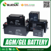 Bluesun deep cycle 12V 200ah AGM storage batteries for solar system