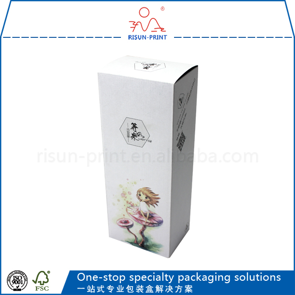 Min order 1000piece Engagement paper cosmetic packaging boxes custom paper with high quality