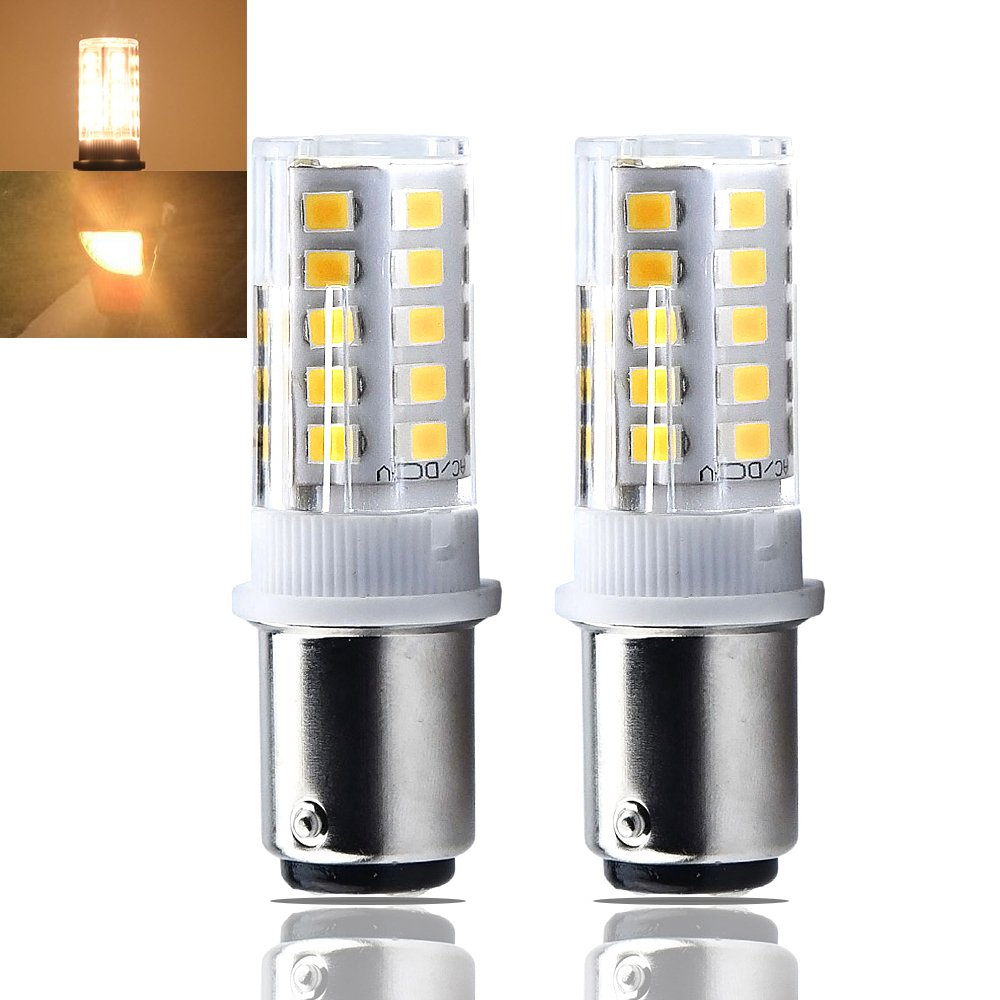 Bonlux 1157 LED Ba15d Light Bulb 24V AC/DC Double Contact Bayonet Parallel Pin Base 1076 1130 1176 1142 LED 35W RV Replacement Bulb Warm White 3000K (2-Pack)