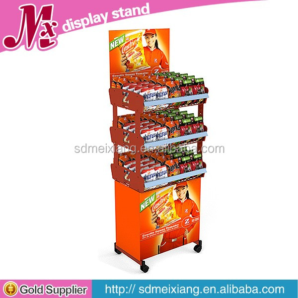 MX-SM150 freestanding potato chips metal display rack, chips display rack