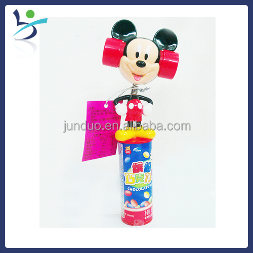 Shaking whistle mouse candy toy
