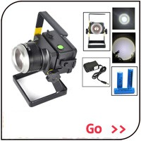 Zoomable 1000 Lumen Ultra Api Cree XM-L T6 LED Senter 3.7 V 18650 atau Baterai AAA Cree LED Rechargeable