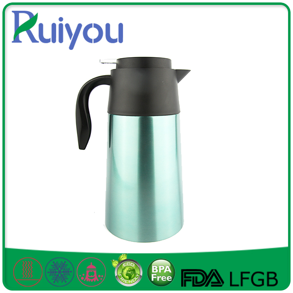 Promotion colorful stainless steel 2 liter vacuum coffee pot
