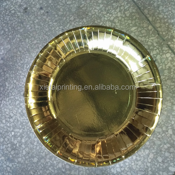 New design gold paper plates gold charger plates for party wholesale