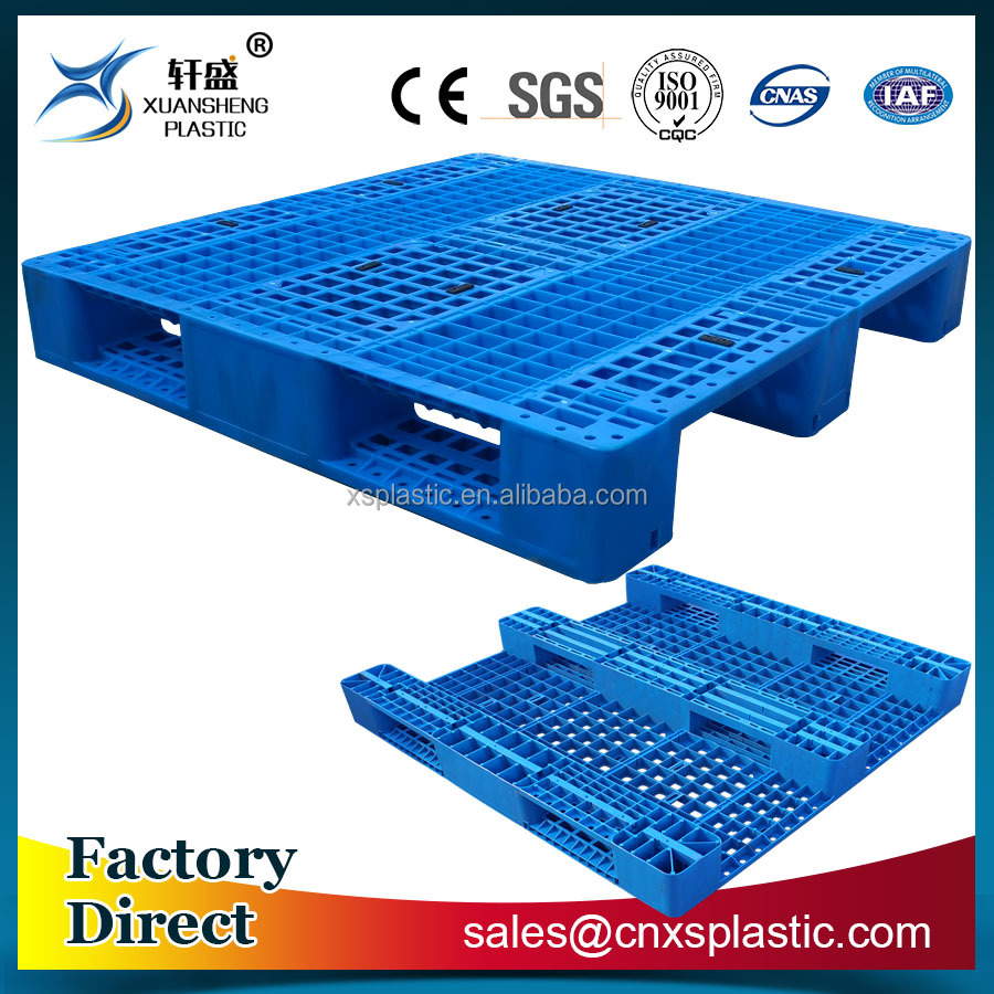 1200x1200mm steel tubes reinforced single faced euro plastic pallet for racking