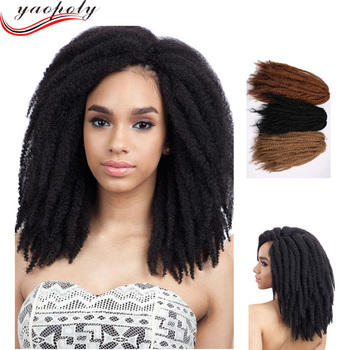 Afro Bulk Synthetic Twist Marley Braiding Pre Twisted Hair Extension For Crochet Braids
