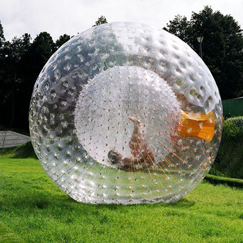 Human Hamster Inflatable Zorb Ball For Children Transparent