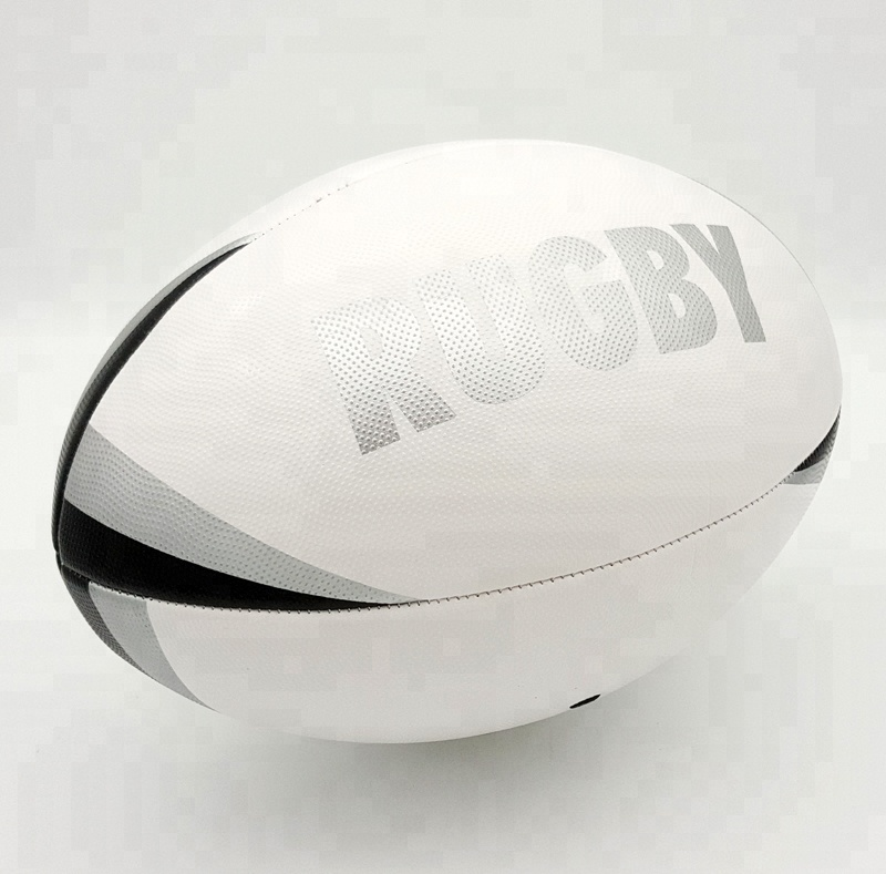 Factory Direct Sales Machine Genaaid Aangepaste Promotionele Grain PVC Rugbybal