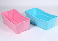 Foldable plastic dog bathtub