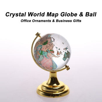 Colorful world map crystal ball globeoffice decorative ornaments colorful world map crystal ball globe office decorative ornaments gumiabroncs Choice Image