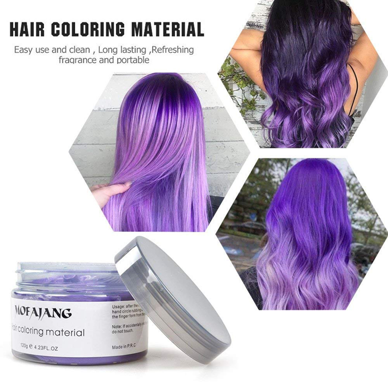 MOFAJANG 9 Colors Hair Styling Pomade Material Temporary Disposable Mud Hair Color Wax