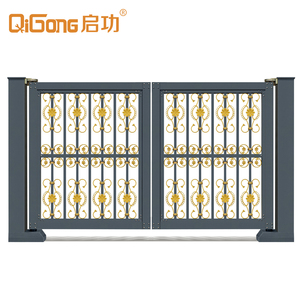 auto electric lighting intelligent swing fencing railway door price factory gate with wheels QG-L958C