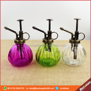 Vintage pumpkin shaped antique glass perfume bottles with sprayer different color available