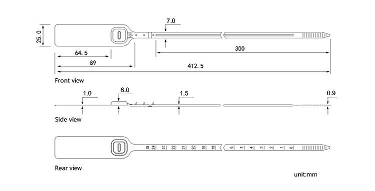TXPS 501 plastic seal CAD