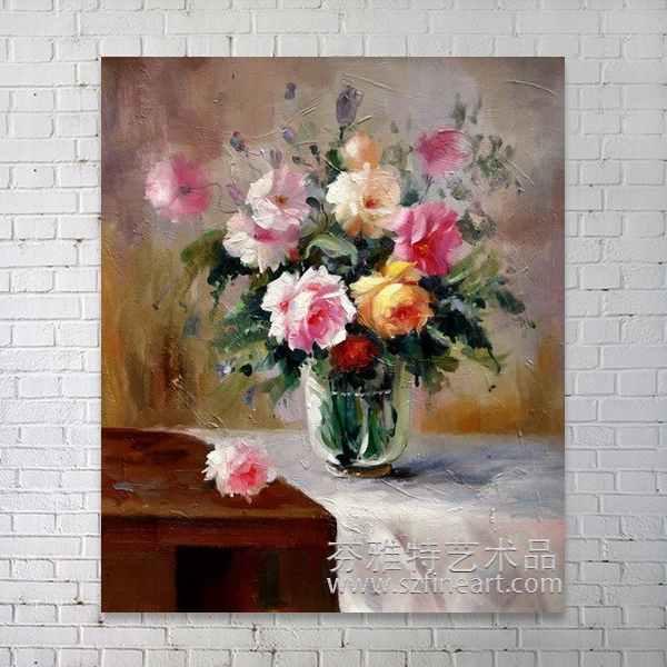 World best selling products fantastique flower in vase modern painting