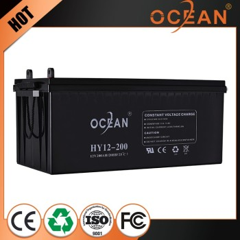 Ocean real capacity solar battery for solar energy system deep cycle solar battery 12v 200ah