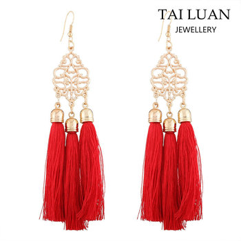 Latest Design Indian Ethnic Jewelry Tel Earrings Accessories For Women