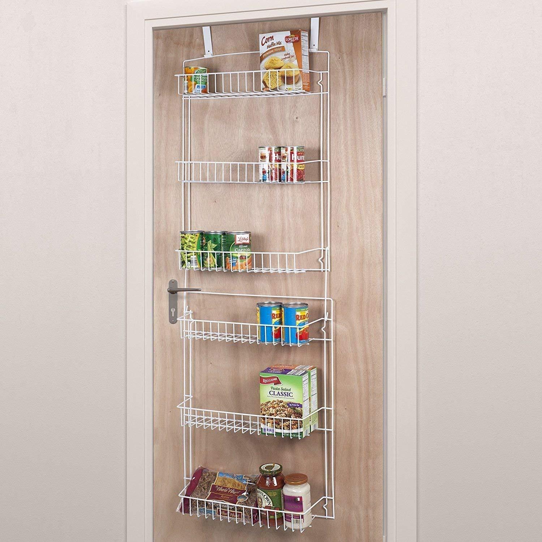 Get Quotations · Over The Door Storage Basket Shelf Rack Organizer Bathroom  Pantry Kitchen Garage Bedroom