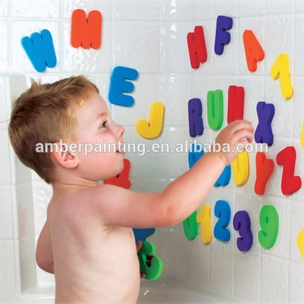 Number alphabet letter tub town foam bath toys for baby education