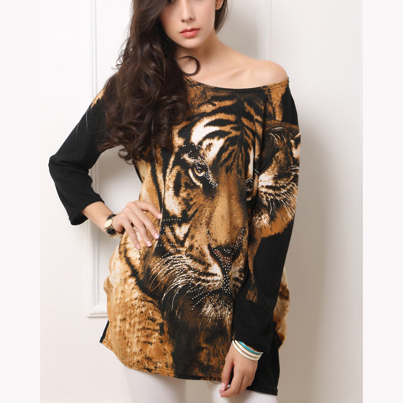 wholesale autumn women printed tiger alibaba dress