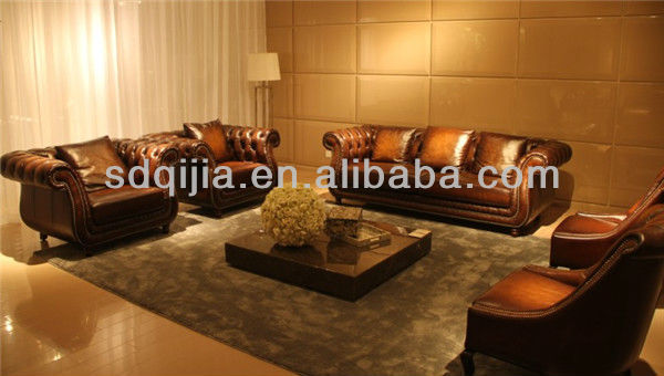 Style am ricain meubles de salon classique luxe - Salon de luxe en cuir ...