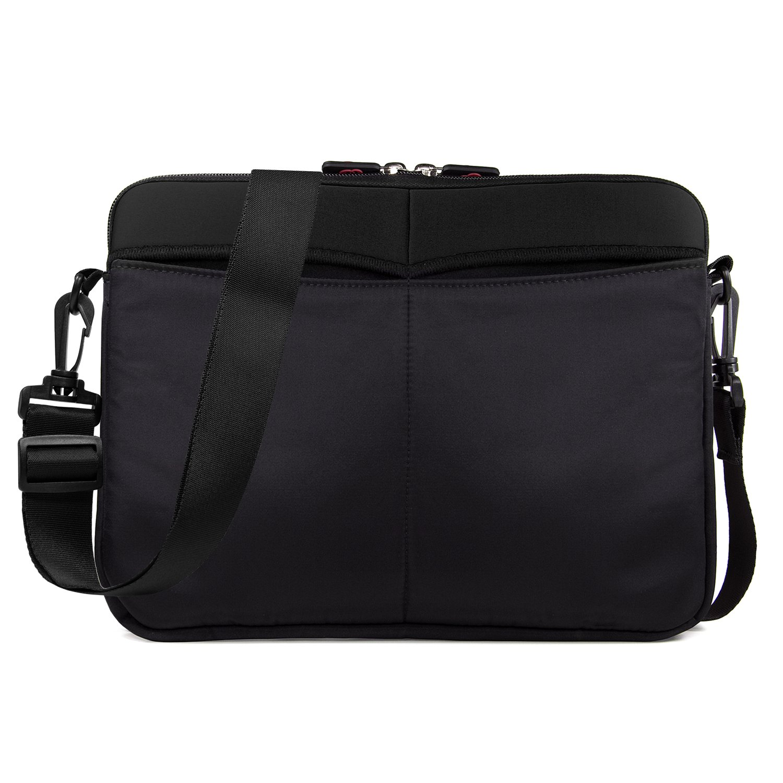 Kroo 12-13 Inch Laptop Sleeve Tablet Bag, Water Resistant Neoprene Notebook Computer Carrying Cover for MacBook, Microsoft Surface, Chromebook (Black)