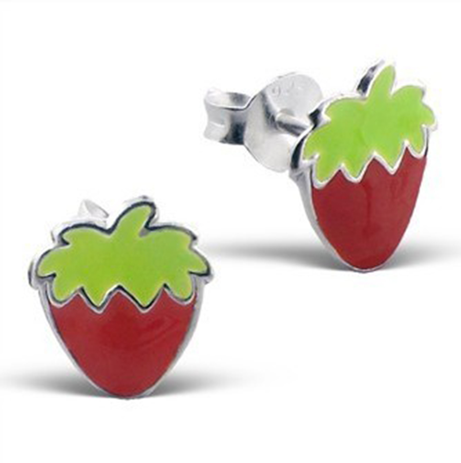 sweet stud p strawberry earrings asp
