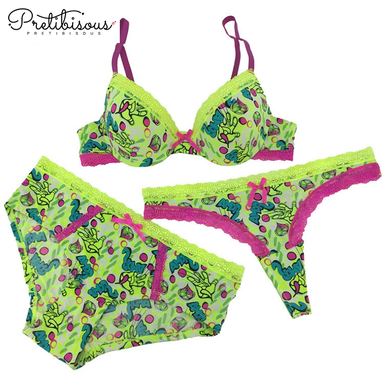 b0635dac8ce8 New fashion underwear high quality intimates print bra and panties set. >