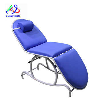 Blue Simple  Lightweight Folding Spa Massage Waxing Bed