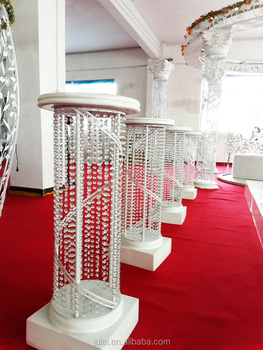 hot small round small pillar for wedding stage decoration wedding walkway centerpieces