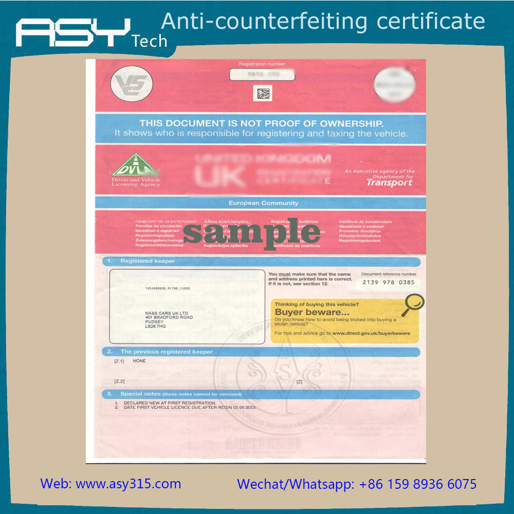 high quality security official degree certificates printing paper with invisible UV, watermark