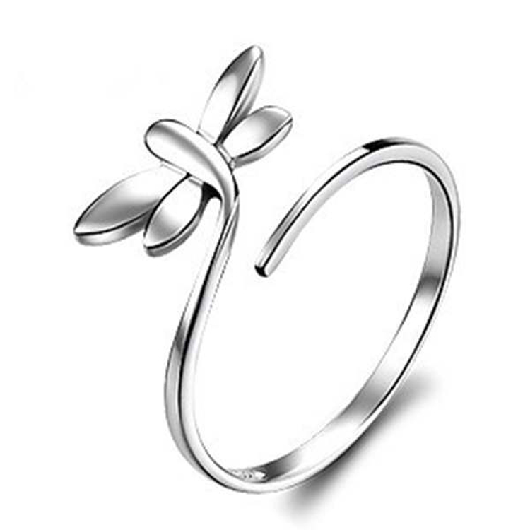 Jewelry Manufacturers Direct Sale Dragonfly Shaped Adjustable Animal <strong>Ring</strong>