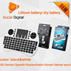 Newest 2.4 GHz support touch-pad for Kodi full QWERTY I8 Mouse Bluetooth Keyboard mini wireless keyboard remote cotroller