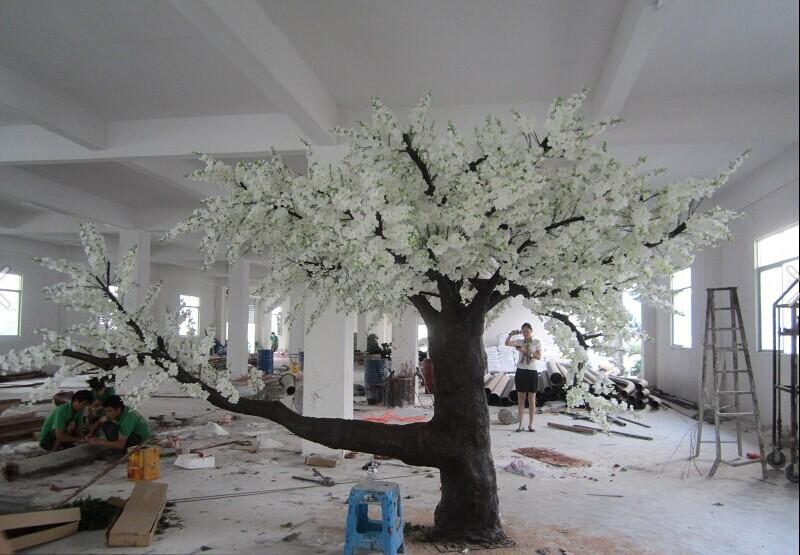 12 5 Pies Blanco Rboles Artificiales Flores De Cerezo Arboles Secos Para  Decoracion